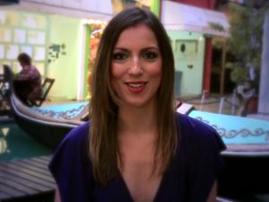 Julia Melin na Praça da Itália